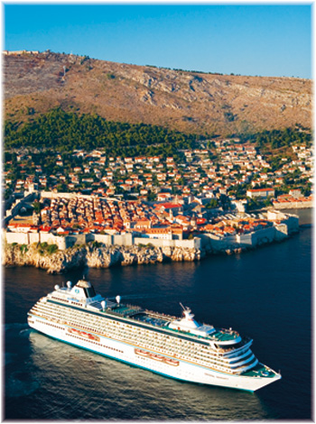 Crystal Serenity at Dubrovnik (Photo courtesy  Crystal Cruises)