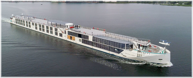 Crystal Bach, the first of the new Rhine class river cruisers for Crystal River Cruises