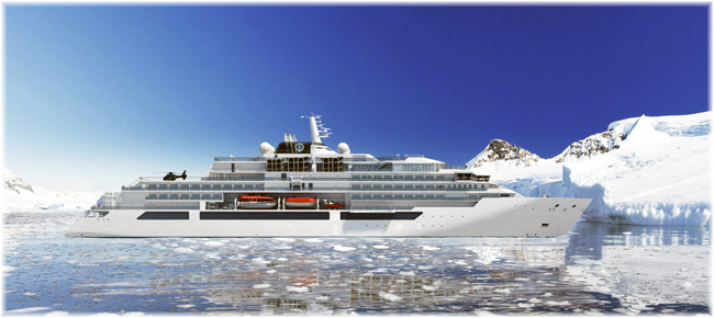 The Crystal Endeavor (Artist concept, courtesy Crystal Cruises) (Click to enlarge)