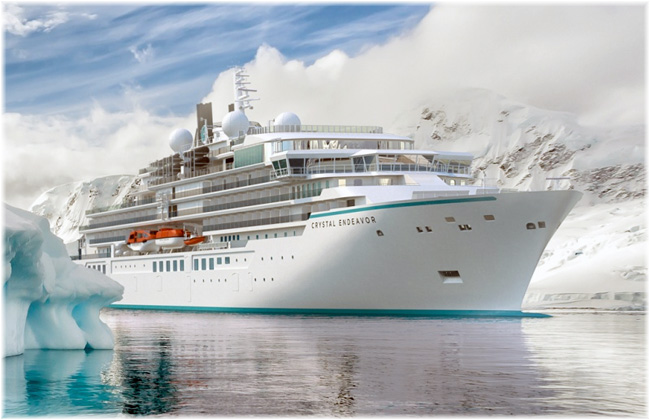 The Crystal Endeavor (Artist concept, courtesy Crystal Cruises)