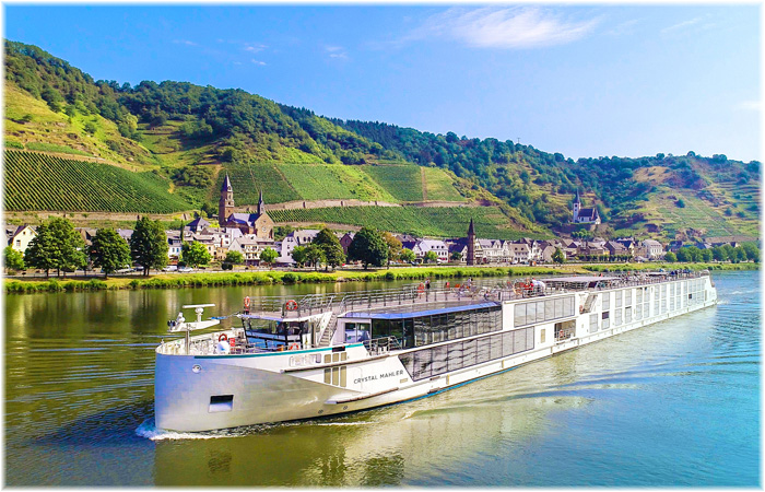Crystal Mahler on the Moselle River (Courtesy Crystal Cruises)