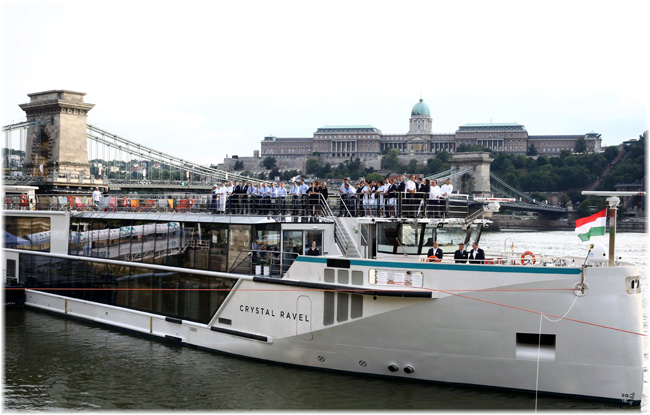 Crystal Ravel Christened In Budapest (Courtesy Crystal Cruises)