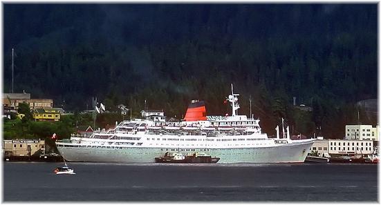 Cunard's Sagafjord at Ketchikan, Alaska (Click to enlarge)