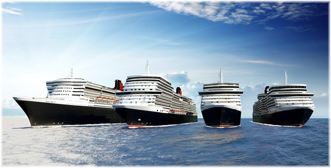 Cunard's planned fourth ship (2nd-left)