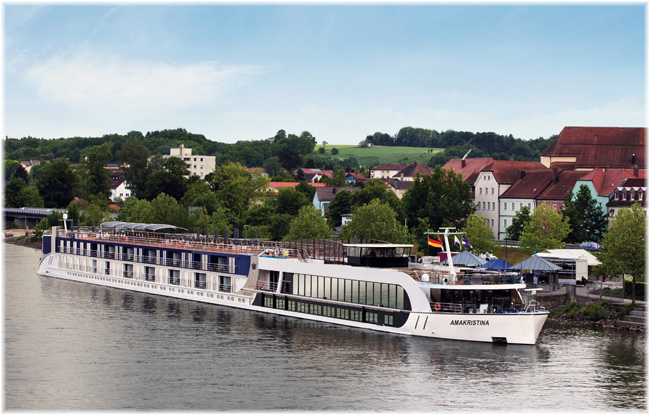 AmaKristina at Vilshofen on Danube in Germany (Courtesy AmaWaterways)