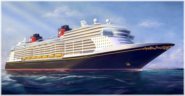 Disney Cruise Line s rendering of its new generation of ships, with deliveries set for 2021, 2022 and 2023 (Courtesy Disney Cruise Line)