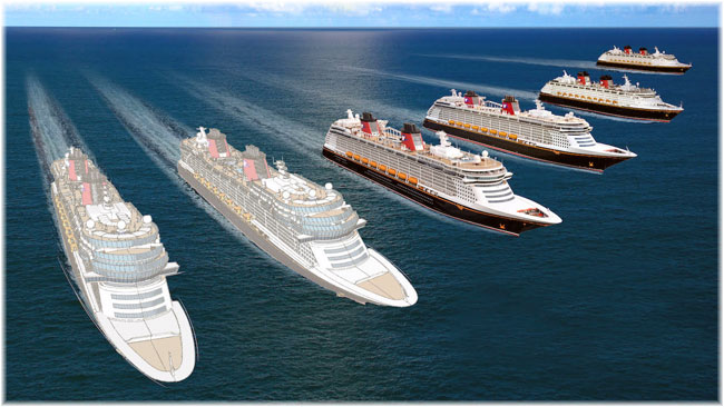 Disney Cruise Line will add a third ship to previous plans which had called for vessels to be delivered in 2021 and 2023 and a seventh ship to the fleet overall