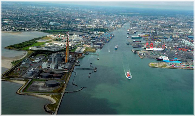 Dublin Port, looking up the river Liffey (Credit: independent.ie)