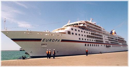 Hapag-Lloyd Cruises' Europa in Dubai