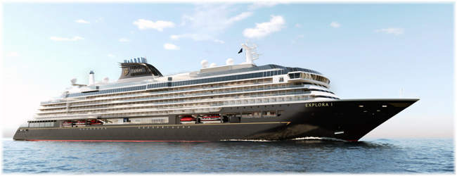 Explora I, the first of four new-concept luxury cruise ships that Fincantieri is building for Explora Journeys, the new luxury brand of the cruises division of MSC Group (Artist impression)