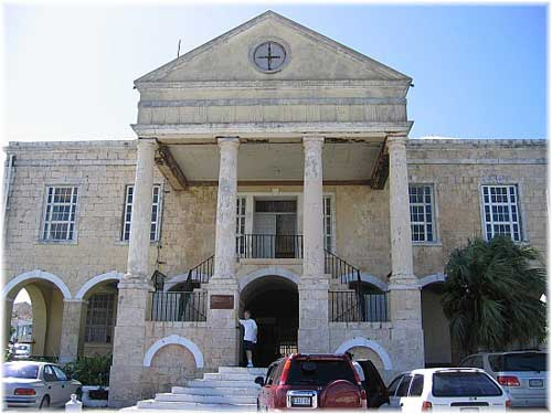 Jamaica. Historic Falmouth: the Court House