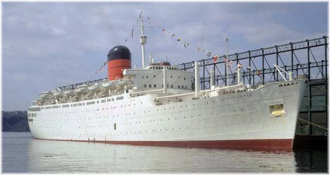 Franconia cruised from New York's Pier 92 to Bermuda for five years from 1967
