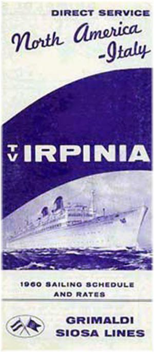Grimaldi Siosa Lines 1960
