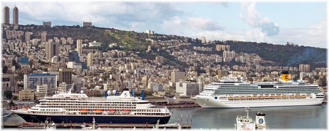 Cruise ships at Haifa, Israel (Haifa Port Company)