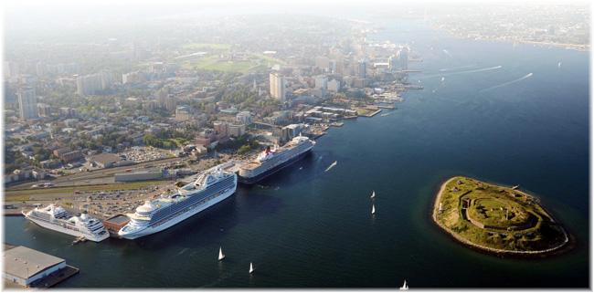 Halifax, Nova Scotia, Canada (Aereal view, courtesy Port of Halifax)