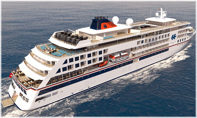 Artist impression of the new Hapag-Lloyd Cruises' Hanseatic Inspiration (Click to enlarge)