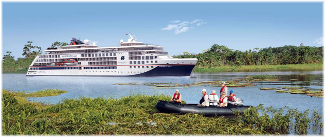 Artist impression of the third planned Hapag-Lloyd Cruises' Hanseatic class ship