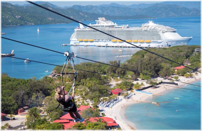 Harmony of the Seas at Labadee, Haiti (Photo courtesy Royal Caribbean International)