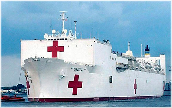 Hospital ship USNS Comfort assigned to New York