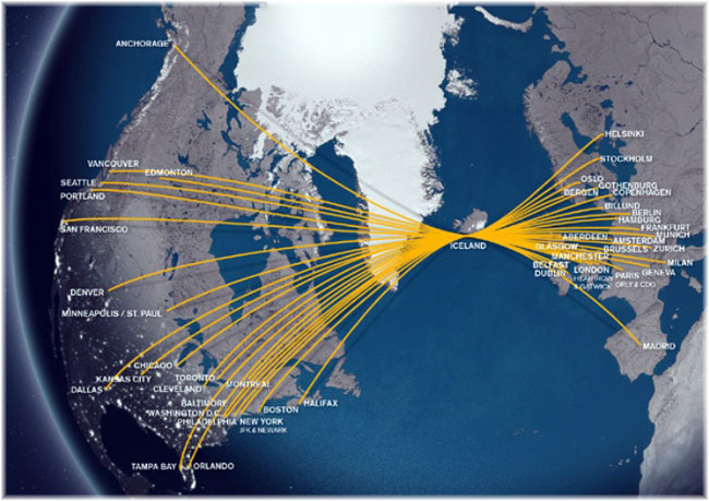 Icelandair: the network
