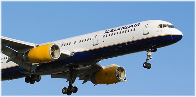 Icelandair. All its present fleet have been manufactured by Boeing