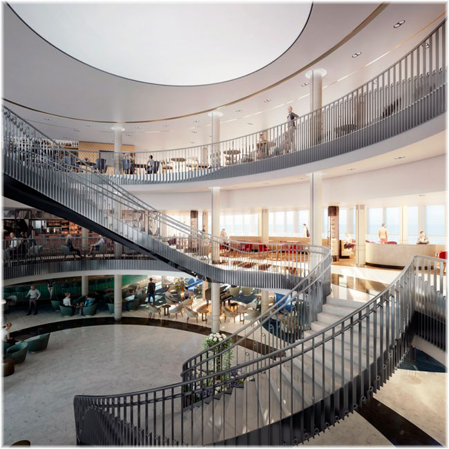 Iona's Grand Atrium  (Courtesy P&O Cruises)