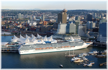 The Island Princess at Vancouver (Click to enlarge)