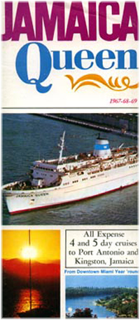 The Jamaica Queen left Miami on her first voyage on September 19, 1966