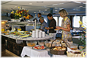 A cruise vacation is a culinary experience