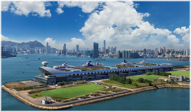 Aerial view of Kai Tak Cruise Terminal at Hong Kong (Courtesy KTCT)