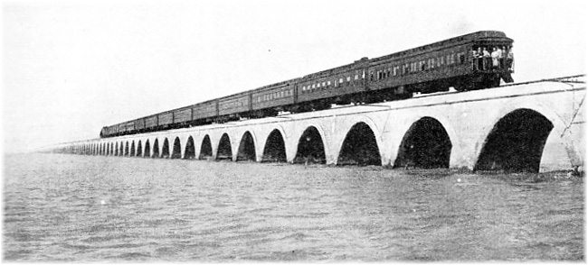 Between 1912 and 1935 Key West was connected to the Florida mainland by a railway line