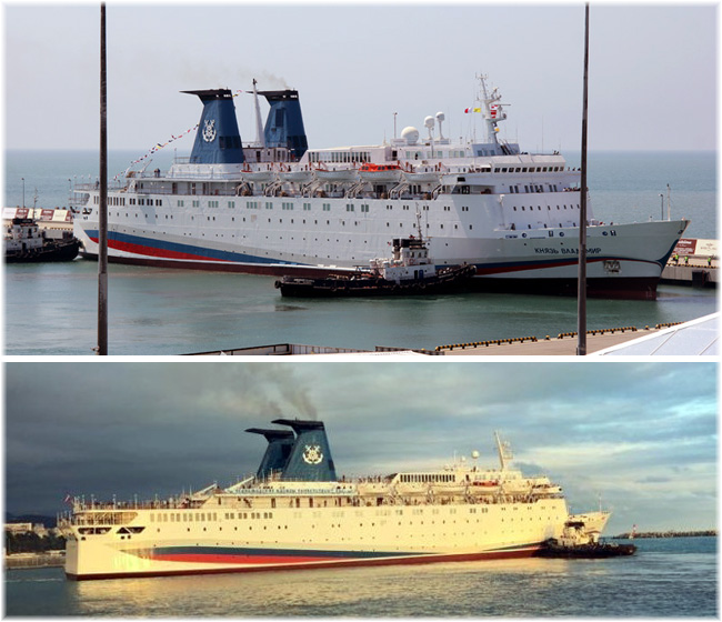 The 674-berth Russian cruise liner Knyaz Vladimir at Sochi (Photos courtesy Rosmorport)