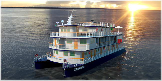 Artist impression of the new riverboat La Jangada (Courtesy Rainforest Cruises)
