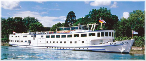 The 109-berth Lady Anne (Photo courtesy of The River Cruise Line)