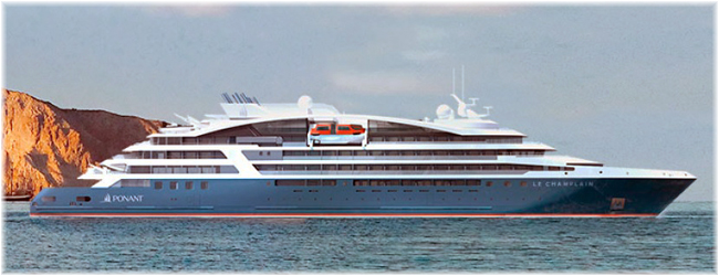 Le Champlain, one of Ponant four 184-berth Explorer class expedition ships (Artist impression)