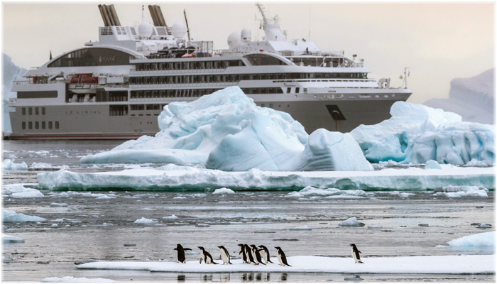 Le Lyrial in Antarctica (Courtesy Abercrombie & Kent)