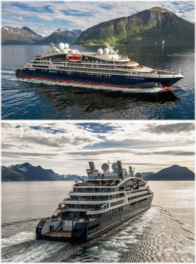 Ponant's Le Lapérouse - Le Champlain sister ship (Photo credit Philip Plisson, Ponant)
