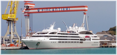 Le Lyrial at Fincantieri's Ancona shipyard