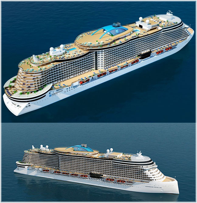 The Leonardo Project (Artist impression courtesy NCL - Fincantieri)