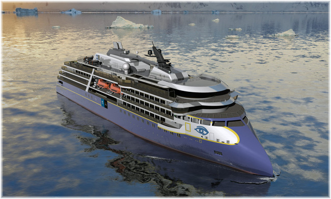 Lindblad Expeditions' new expedition ship (Rendering courtesy of Lindblad Expeditions) (Click to enlarge)