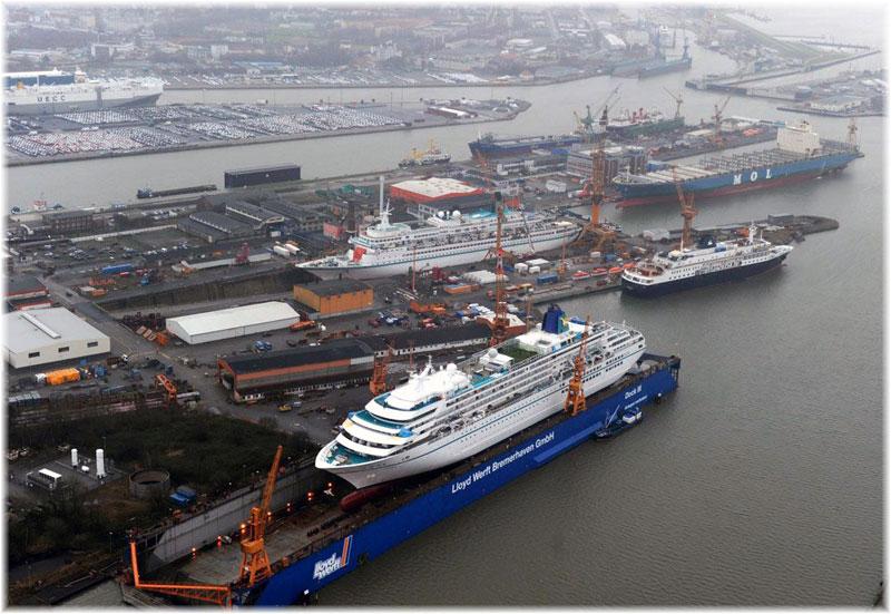 Lloyd Werft Bremerhaven  (Aeriel view)