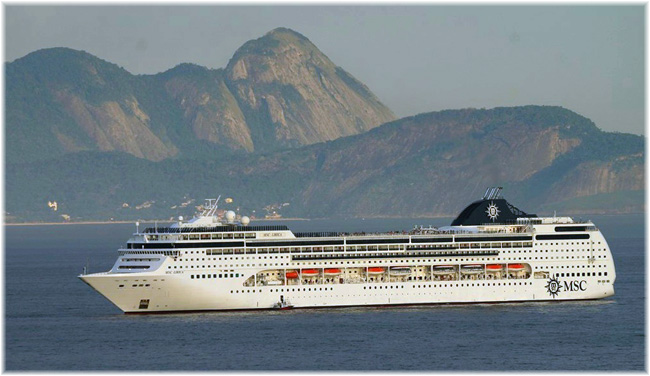The MSC Lirica (In this image at Rio de Janeiro)