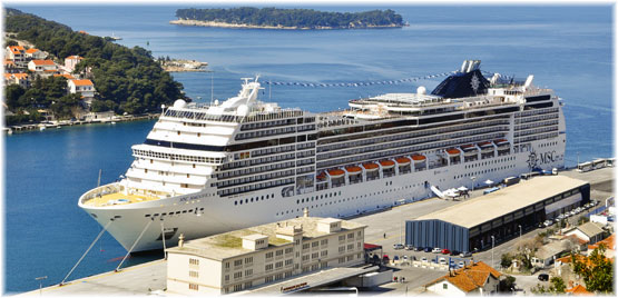 MSC Magnifica in this image at Dubrovnik