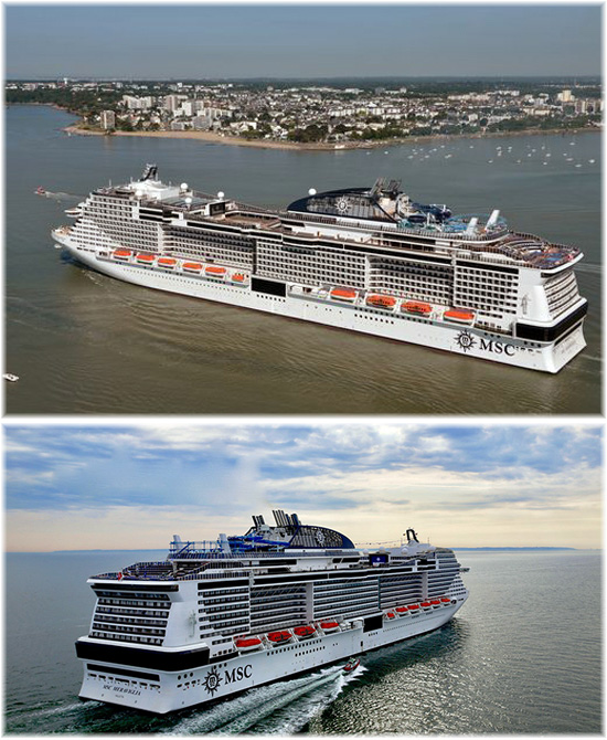 The MSC Meraviglia: MSC Bellissima's sister ship (Click to enlarge)