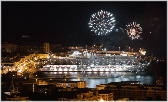 The first of December 2017, in the port of Trieste, MSC Cruises celebrated the coming into service of MSC Seaside (Click to enlarge)