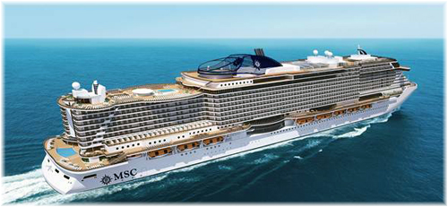 The new MSC Cruises' prototype named Seaside