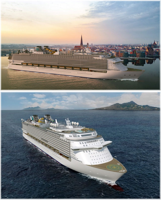 MV Werften's Global Class ship. Above pictured in Rostock (Artist impression MV Werften)
