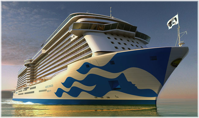 Brand identity: Majestic Princess will be the first ship in the fleet to debut an elegant new livery design featuring the company's iconic logo