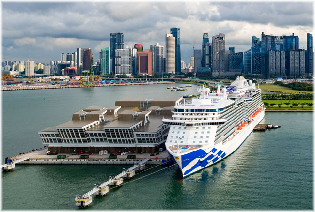 Majestic Princess at Singapore, September 2018