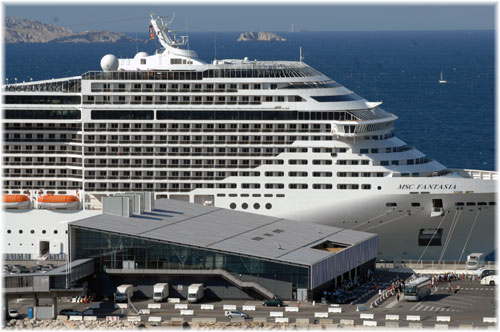 Marseille - The Cruise Terminal with MSC Fantasia